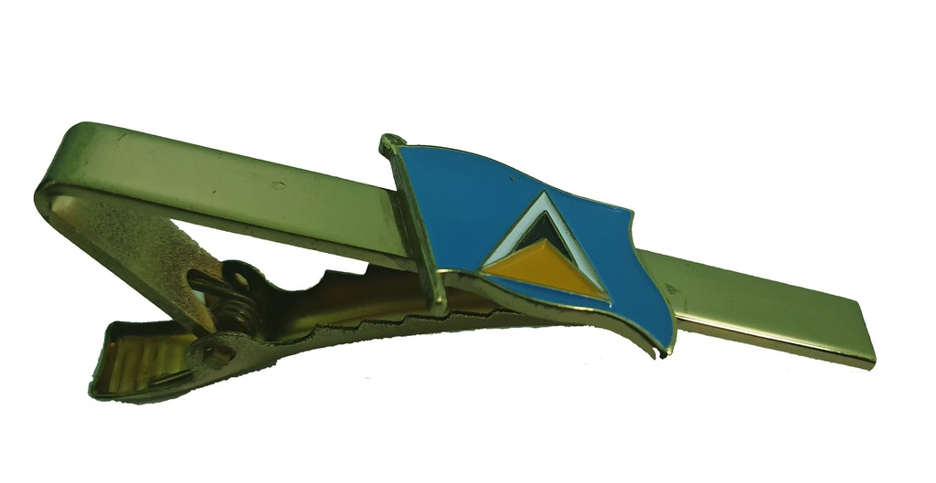 Saint Lucia Flag Tie Pin